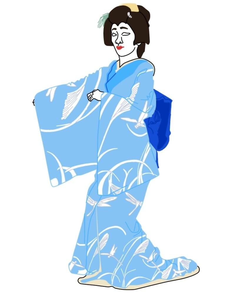 Dragonflies Kimono Motif by KHRArts