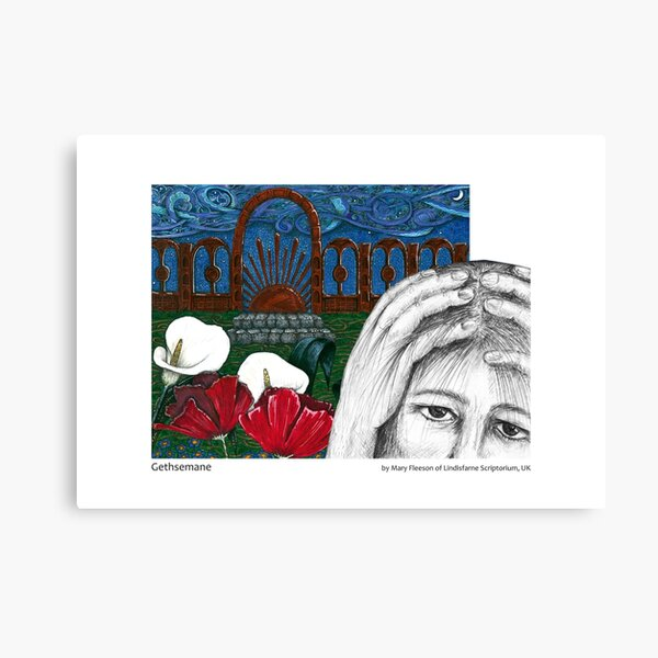 The Journey to the Cross and Beyond - Station 1 - Gethsemane Canvas Print