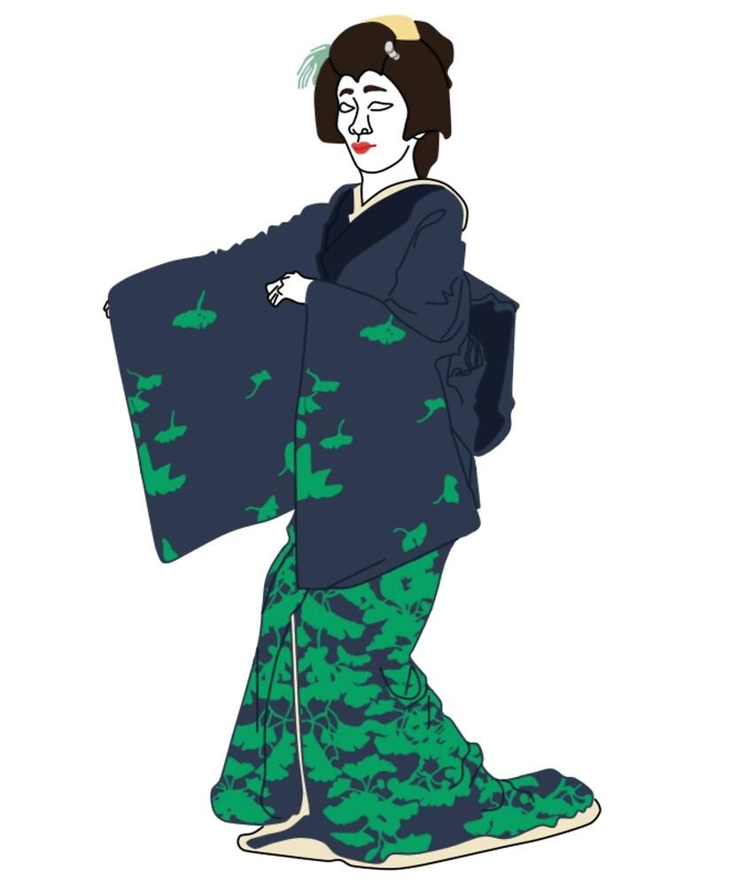 Ginko Kimono Motif by KHRArts