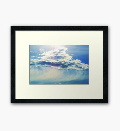Glowing Cloud Framed Print