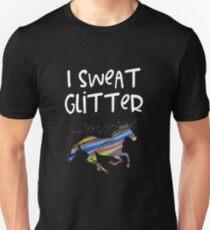 Ich schwitze Glitter-Einhorn-Liebhaber Slim Fit T-Shirt
