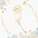 Romantic Peony Chic Rose in gold by Tuky Waingan