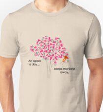 An Apple A Day... Keeps Monkeys Away. Unisex T-Shirt