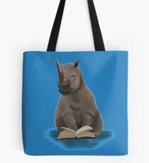 Reading rhino  Tote Bag