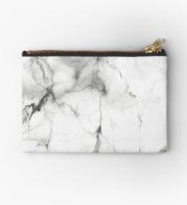White Marble Studio Pouch
