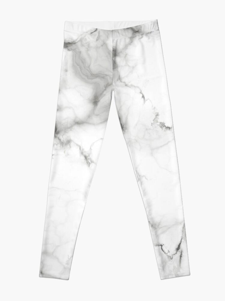 Alternate view of White Marble Leggings