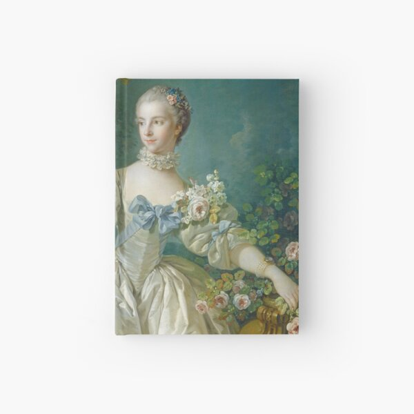 Madame Bergeret - Francois Boucher french painting Hardcover Journal