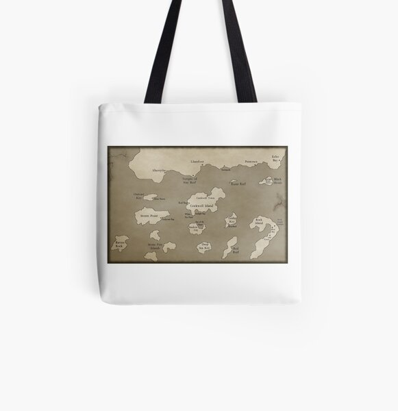 Deluxe Map of the Outer Islands All Over Print Tote Bag