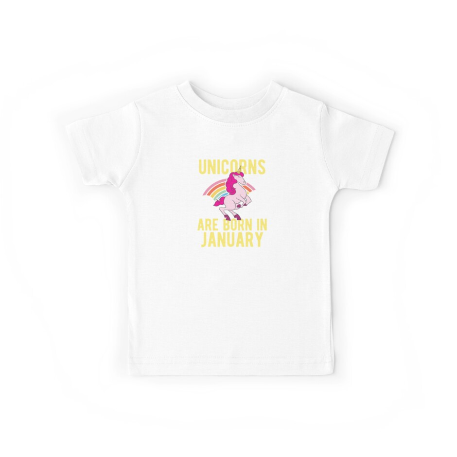 Unicorns Are Born In January Shirt Birthday Month Gift Tee von haselshirt