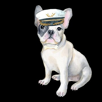 Frenchie French Bulldog BONE Captains Hat  Dogs In Clothes by Vroomie