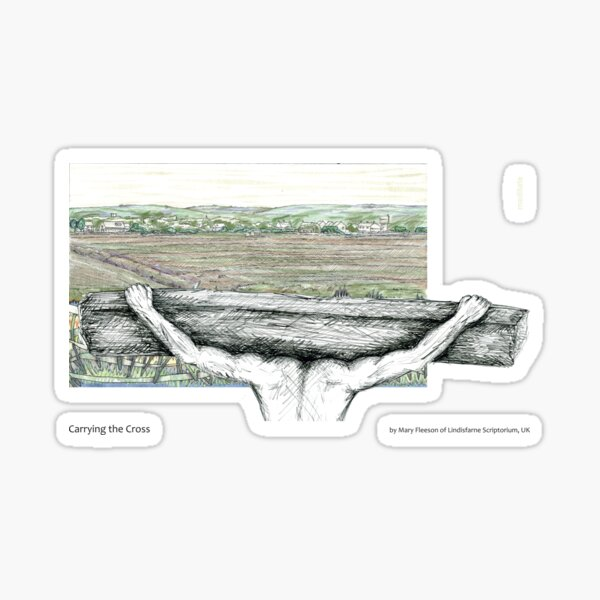 The Journey to the Cross and Beyond - Station 7 - Carrying the Cross Sticker