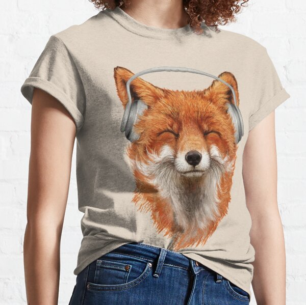 Smiling Musical Fox Classic T-Shirt
