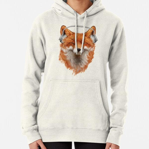 Smiling Musical Fox Pullover Hoodie