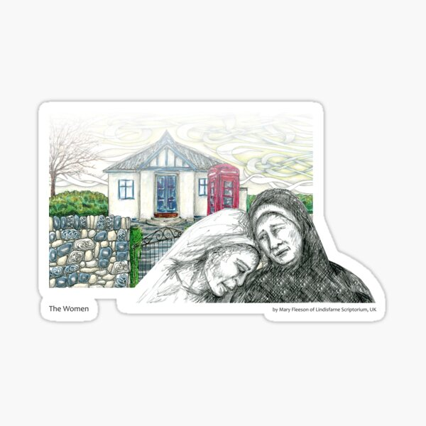 The Journey to the Cross and Beyond - Station 9 - The Women Sticker