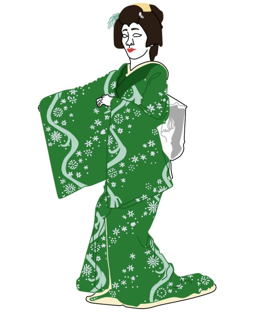 Yukiwa Kimono Motif by KHRArts
