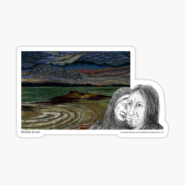 The Journey to the Cross and Beyond - Station 12 - Mother and Son Sticker