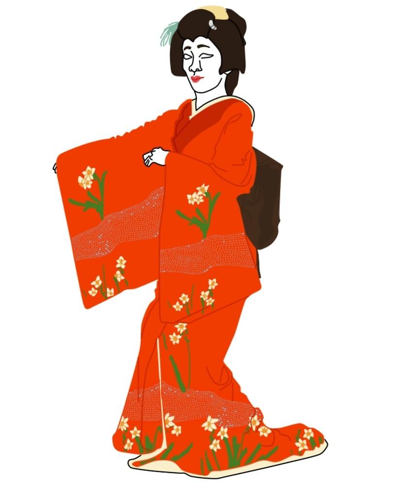 Daffodil Kimono Motif by KHRArts