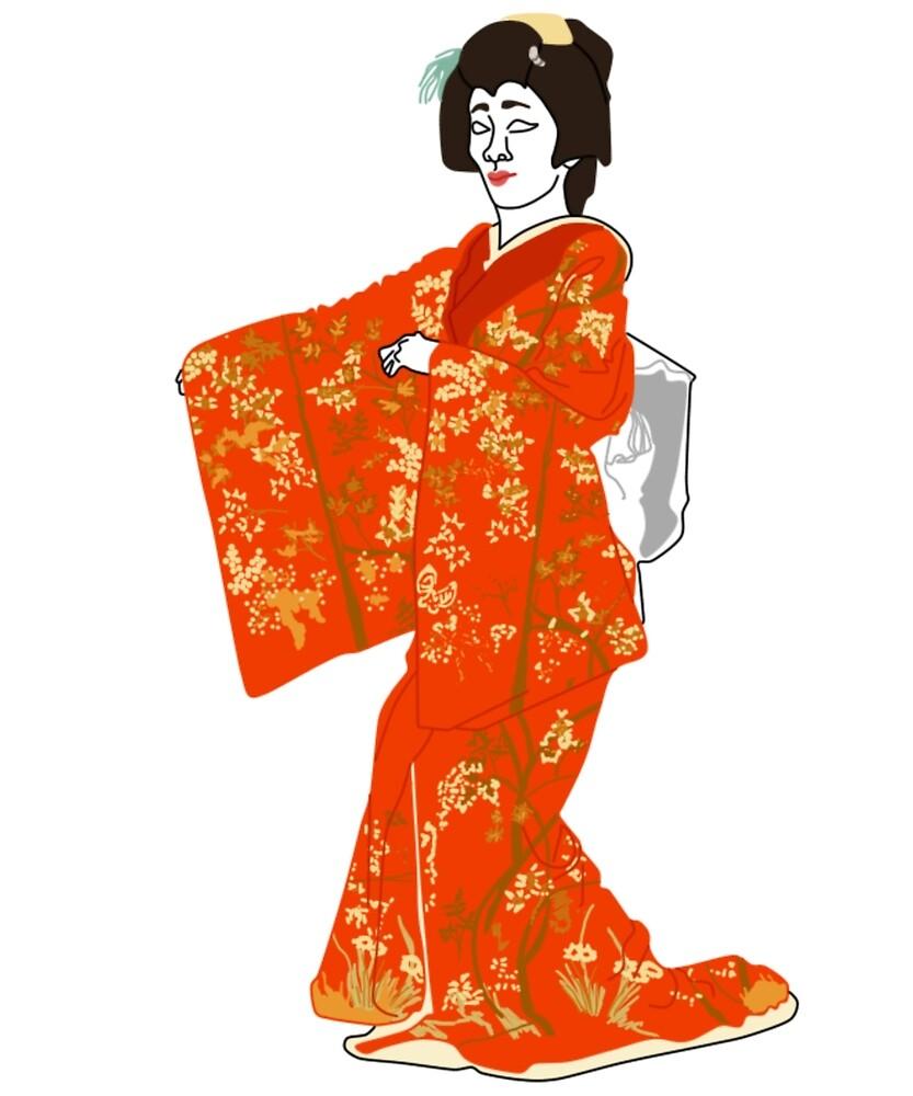 Nandina Kimono Motif by KHRArts