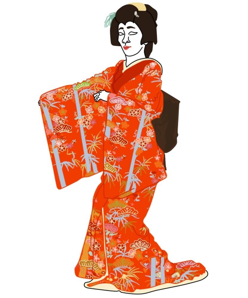 Shochikubai Kimono Motif by KHRArts