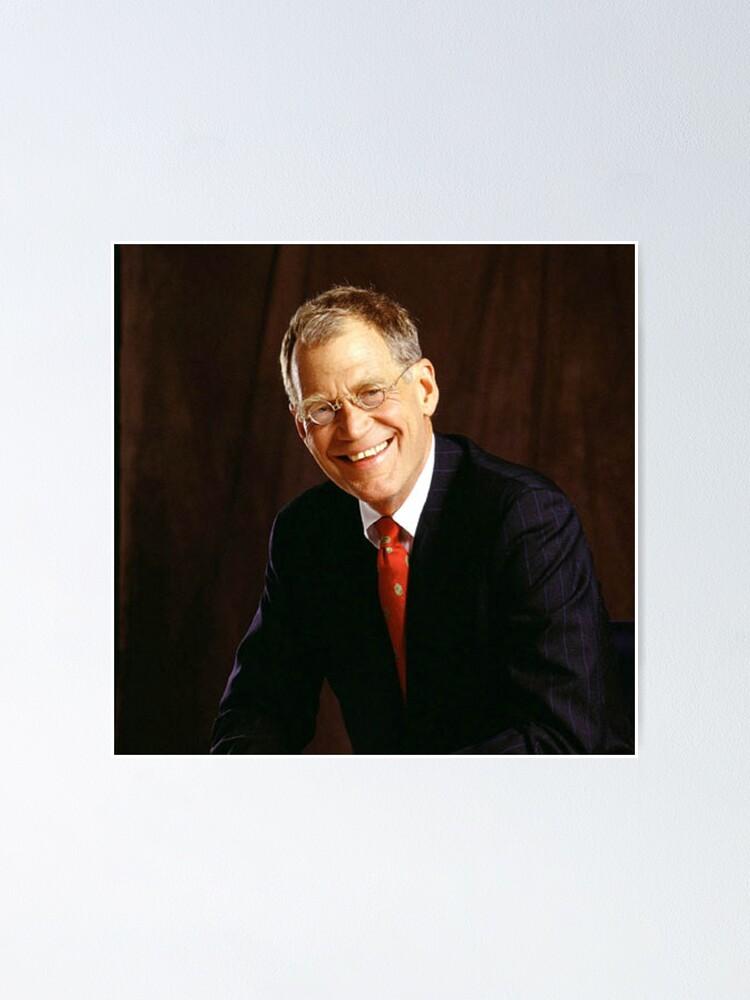 Alternate view of David Letterman Poster