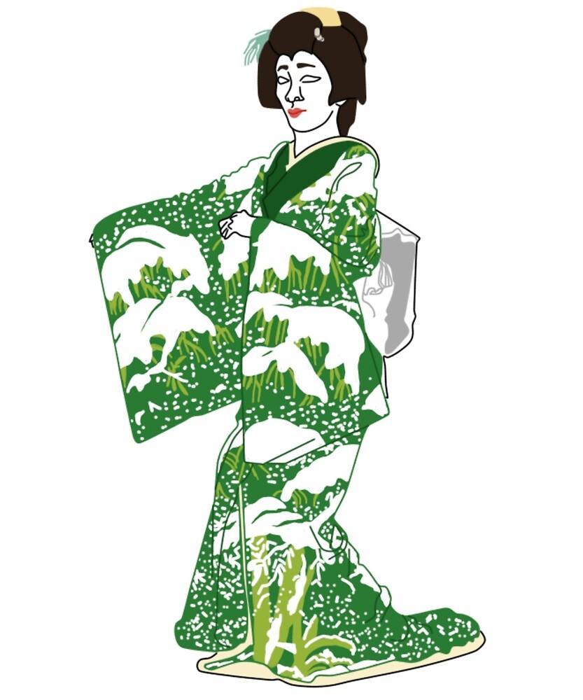 Snow Kimono Motif by KHRArts