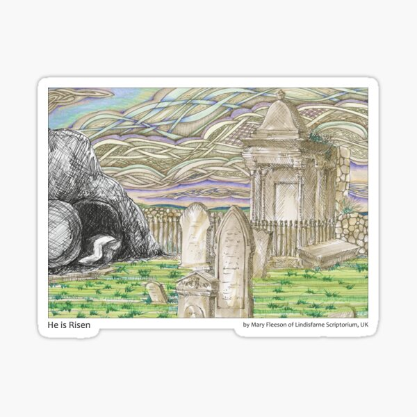 The Journey to the Cross and Beyond - Station 15 - He is Risen Sticker
