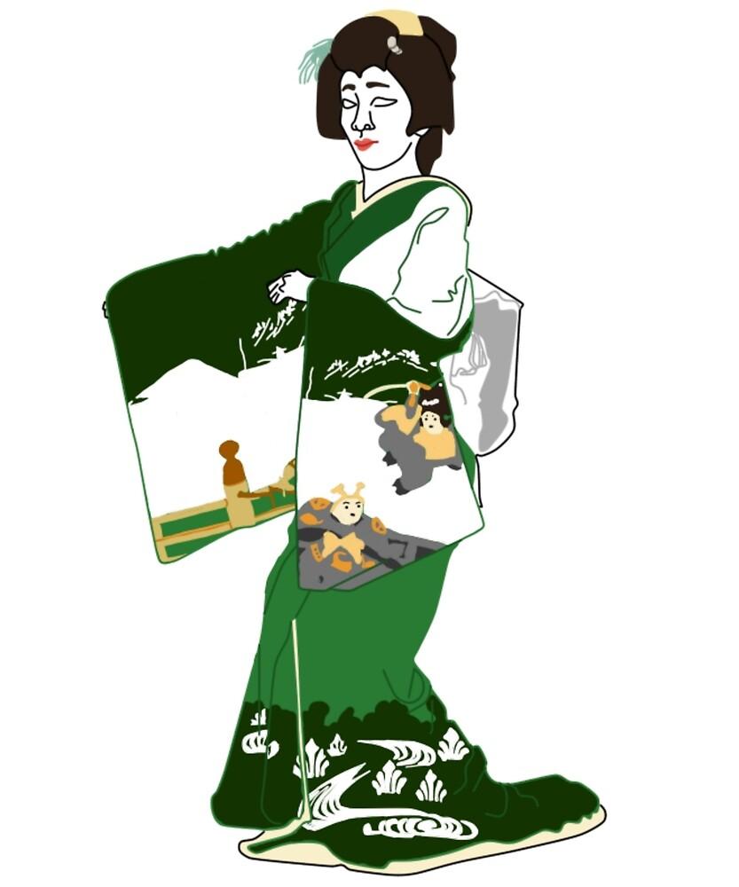 Scenes/Items with Snow Kimono Motif by KHRArts
