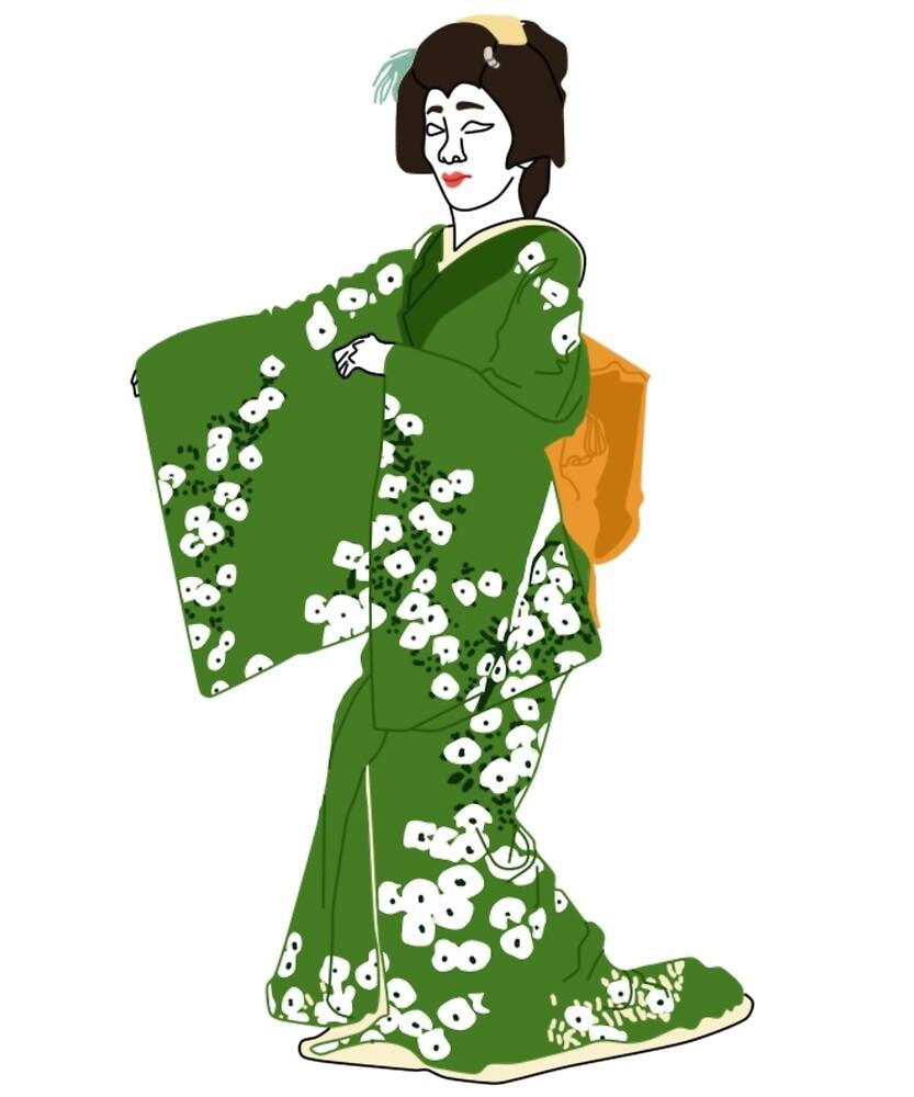 Camellia Kimono Motif by KHRArts