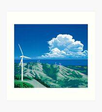 Hiroshi Nagai / Windy Hills Art Print