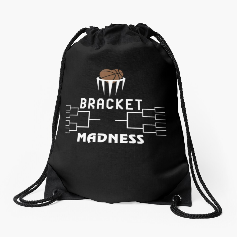 Basketball Bracket Madness, Men's Gift.  Drawstring Bag