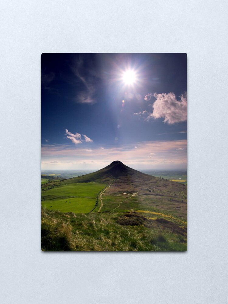 Alternate view of Roseberry Topping Metal Print