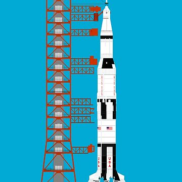 Saturn V rocket, used for the American manned lunar landing missions by TOMSREDBUBBLE