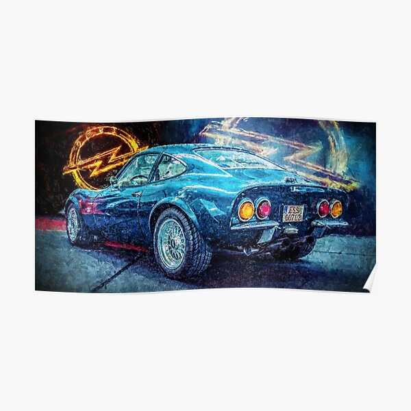 Opel GT Coupe Poster