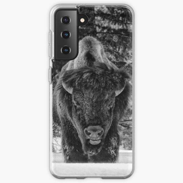 Buffalo in the Snow Coque souple Samsung Galaxy