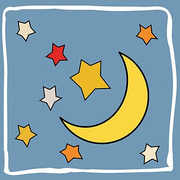 MOON AND STARS by TOMSREDBUBBLE