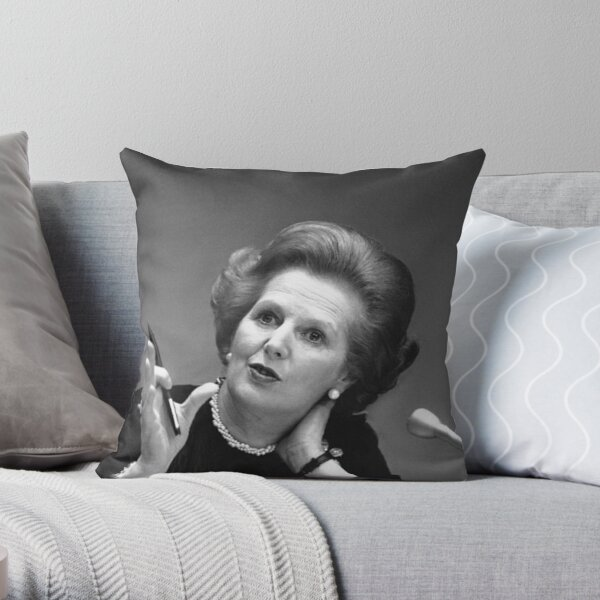 Margaret Thatcher Pillows Cushions Redbubble