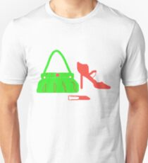 RED and Green Bag-Shoes-Lippy  T Shirt Unisex T-Shirt