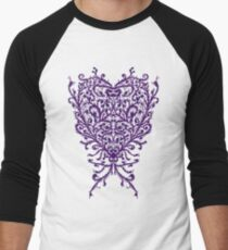 Peacock Heart Tee Light Men's Baseball ¾ T-Shirt