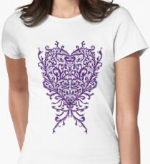 Peacock Heart Tee Light Womens Fitted T-Shirt