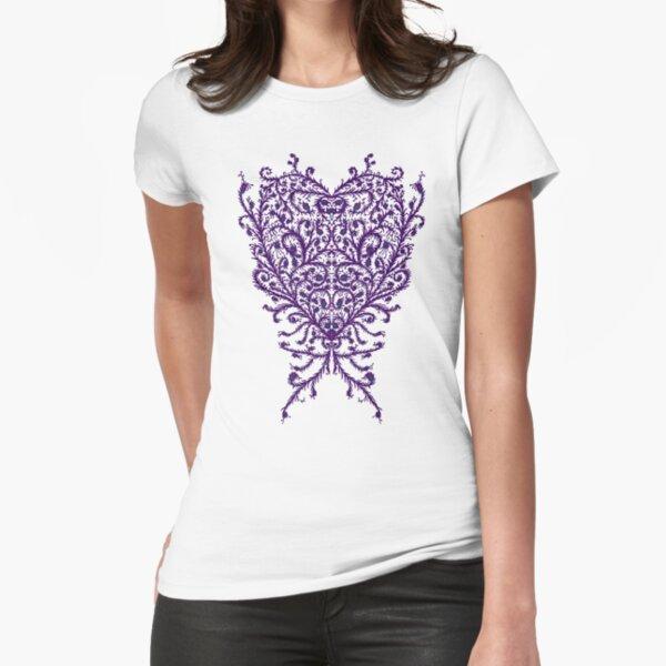 Peacock Heart Tee Light Fitted T-Shirt