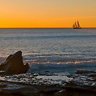 Sailing home at Cable Beach, Broome. by johnrf
