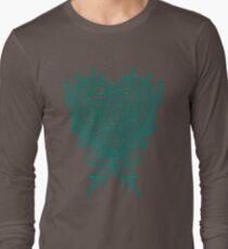Peacock Heart Tee Dark T-Shirt