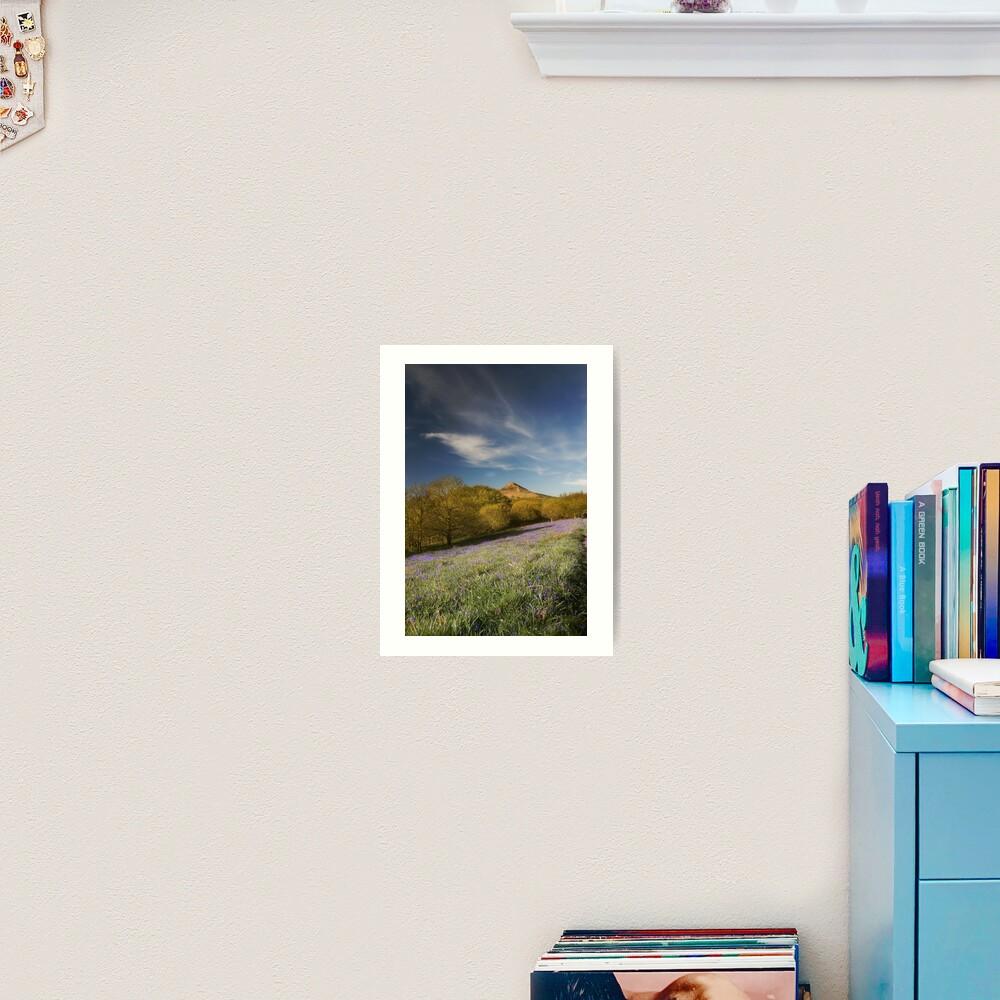 The Bluebells at Roseberry Topping Art Print