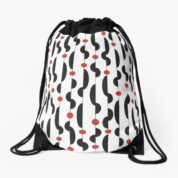 Squiggleoo Red Dot pattern Drawstring Bag