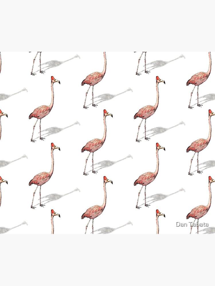 Fez Hat Flamingo by dmtab