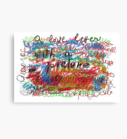 UNA LETTERA D'AMORE CON FOTO Canvas Print