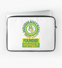 Japanese Knotweed and Wasp Club Founder Member Laptop Sleeve