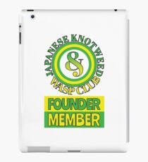 Japanese Knotweed and Wasp Club Founder Member iPad Case/Skin