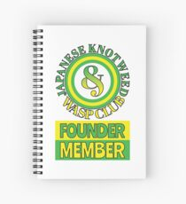 Japanese Knotweed and Wasp Club Founder Member Spiral Notebook