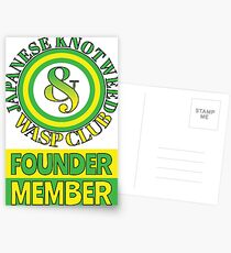 Japanese Knotweed and Wasp Club Founder Member Postcards